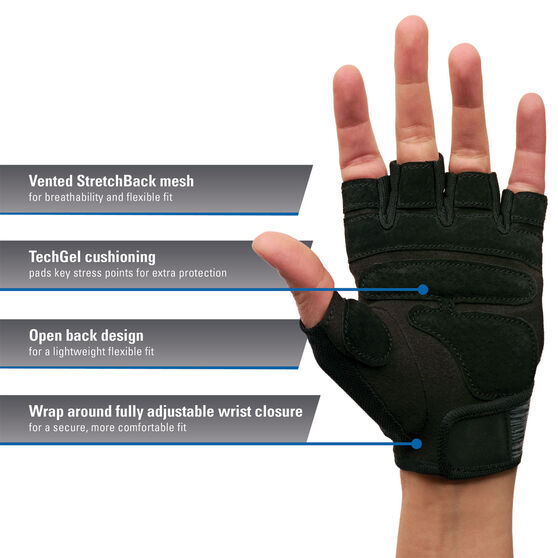 Harbinger Womens Flexfit Glove, Grey, rebel_hi-res