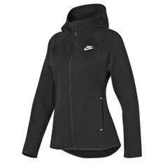 Nike Womens Sportswear Windrunner Tech Fleece Full Zip Hoodie Black XS, Black, rebel_hi-res