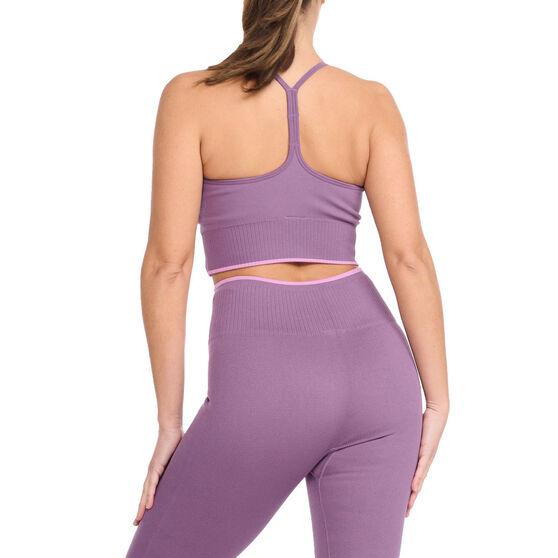 2XU Womens Engineered Longline Sports Bra, Purple, rebel_hi-res