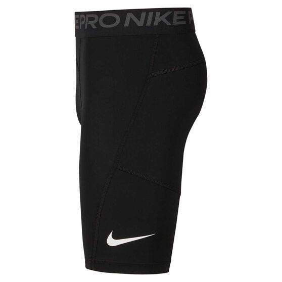Nike Boys Pro Shorts, Black / White, rebel_hi-res