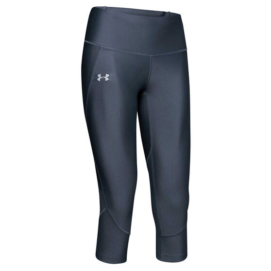 Under Armour Womens Fly Fast Capri Tights, Grey, rebel_hi-res