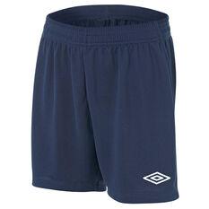 Umbro League Junior Football Shorts Navy S, Navy, rebel_hi-res