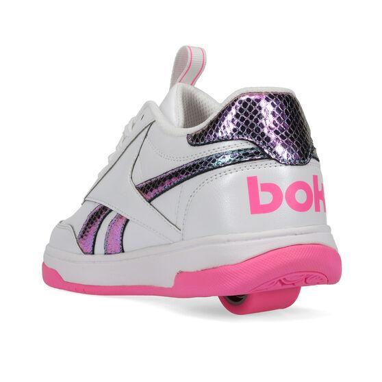 Reebok Court Low Heelys, White/Pink, rebel_hi-res
