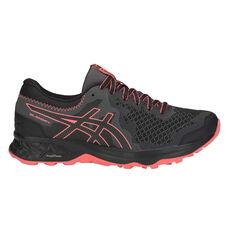 Asics GEL Sonoma 4 D Womens Trail Running Shoes Black / Orange US 6, Black / Orange, rebel_hi-res
