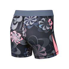 Nike Girls Pro Training Shorts Grey / Pink XS, Grey / Pink, rebel_hi-res