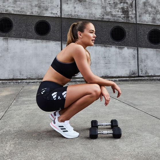 adidas Womens Celebration Short Running Tights, Black, rebel_hi-res