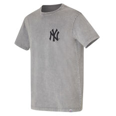 New York Yankees Mens Snow Wash Tee Blue S, Blue, rebel_hi-res