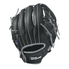 Wilson A360 RHT Baseball Glove Black / Silver 11in, Black / Silver, rebel_hi-res