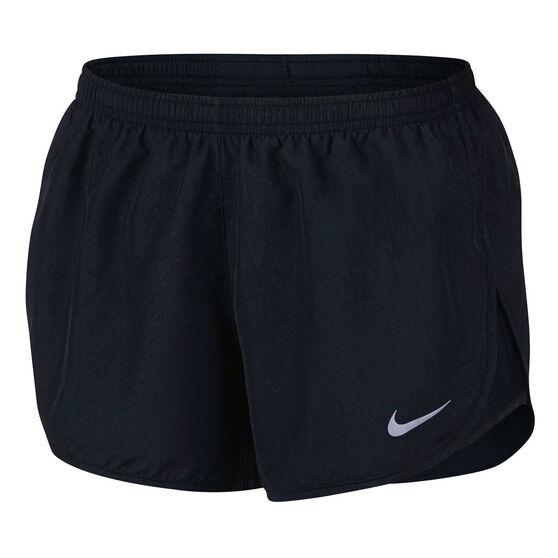 e3070a4e41 Nike Womens Dry Tempo Running Shorts Black   Silver XL Adult