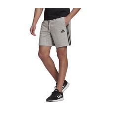 adidas Mens Essentials French Terry 3-Stripes Shorts, Grey, rebel_hi-res