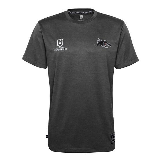 Penrith Panthers 2021 Mens Performance Tee, Black, rebel_hi-res
