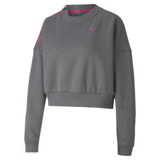 Puma Womens Be Bold Brave Sweatshirt Grey XS, Grey, rebel_hi-res
