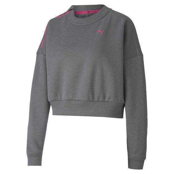Puma Womens Be Bold Brave Sweatshirt, Grey, rebel_hi-res