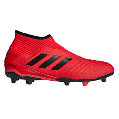 adidas Predator 19.3 Laceless Mens Football Boots Red / Black US 7, Red / Black, rebel_hi-res