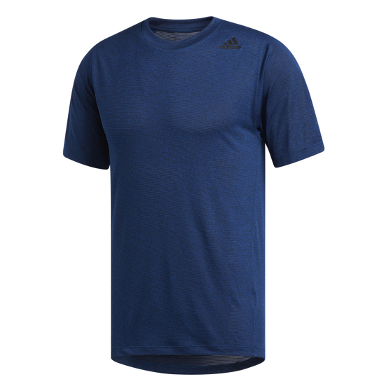 adidas Mens FreeLift Tech Climacool Fitted Tee, Navy, rebel_hi-res