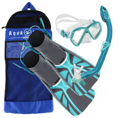 Aqua Lung Sport Junior Cub Snorkel Set Blue S / M, Blue, rebel_hi-res