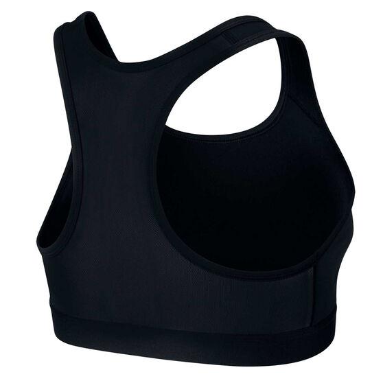 Nike Womens Swoosh Icon Clash Sports Bra Black / Grey XS, Black / Grey, rebel_hi-res