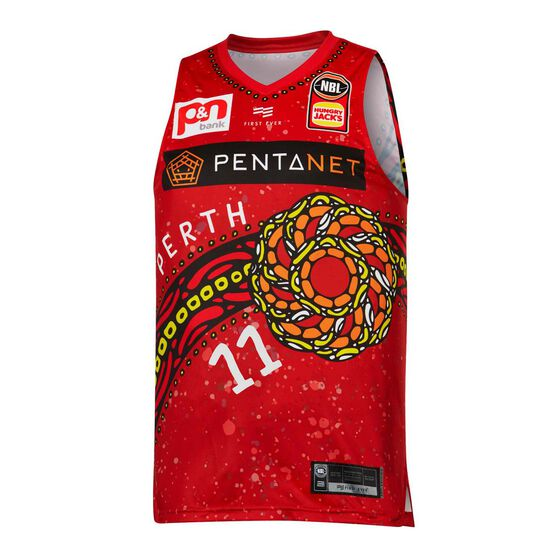 Perth Wildcats 19/20 Mens Indigenous Jersey, , rebel_hi-res