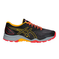 Asics GEL FUJI TRABUCO 6 Womens Running Shoes Black / Orange US 6, Black / Orange, rebel_hi-res