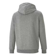 Puma Mens Essential Two Toned Big Logo Hoodie Grey XS, Grey, rebel_hi-res
