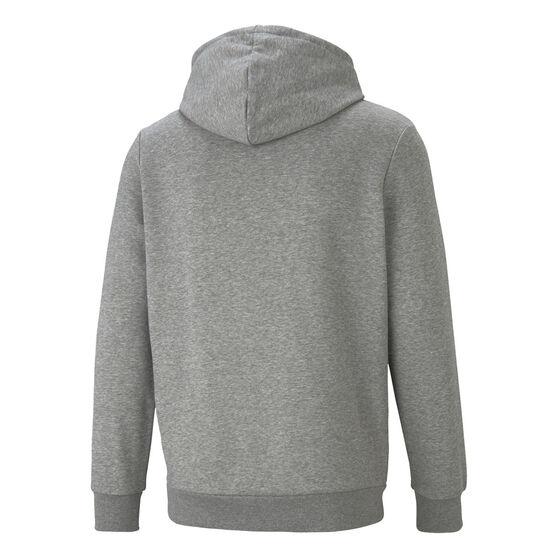 Puma Mens Essential Two Toned Big Logo Hoodie, Grey, rebel_hi-res