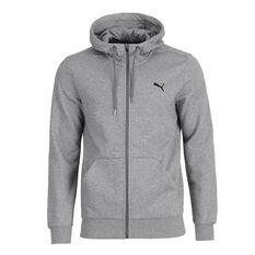 Puma Mens Essential Full Zip Hoodie Grey S adult, Grey, rebel_hi-res