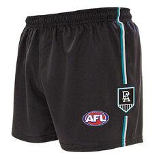 Port Adelaide Kids Home Supporter Shorts Navy 4, Navy, rebel_hi-res