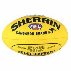Sherrin Soft Touch Junior Australian Rules Ball Yellow 8in, Yellow, rebel_hi-res
