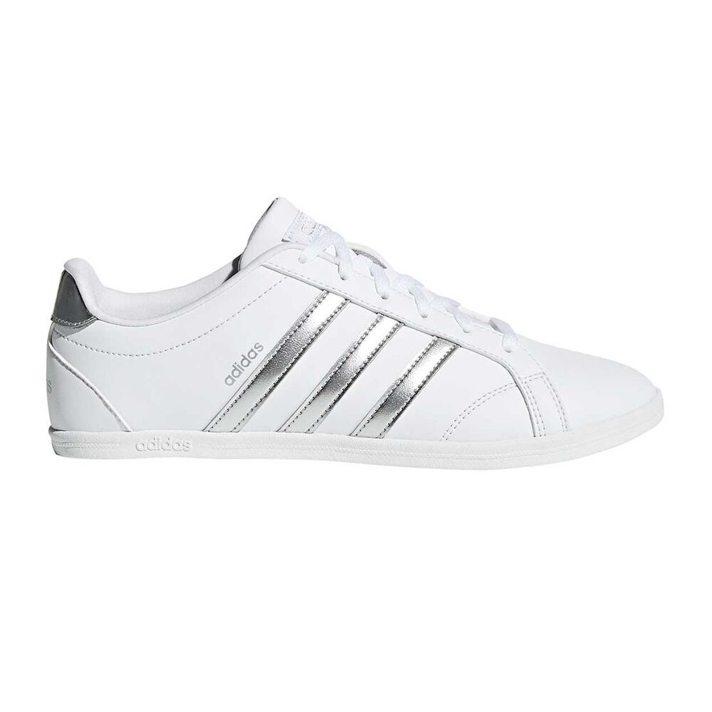 76a0f81c65f adidas VS Coneo QT Womens Casual Shoes White   Silver US 6