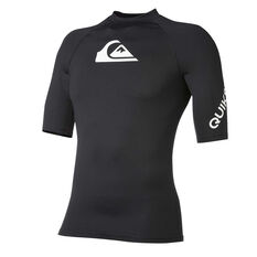 Quiksilver Boys All Time Rash Vest Black 8, Black, rebel_hi-res