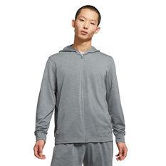 Nike Mens Dri-Fit Full Zip Yoga Jacket Grey S, Grey, rebel_hi-res