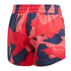 adidas Girls Woven Shorts Pink 6, Pink, rebel_hi-res