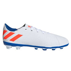 0360256b0303e adidas Nemeziz Messi 19.4 Kids Football Boots White   Red US 11