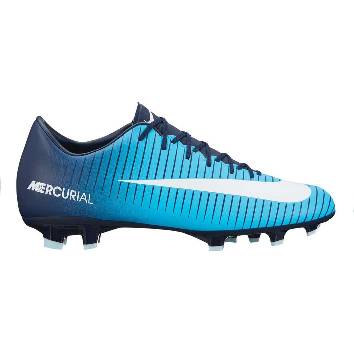 Nike Mercurial Victory VI Mens Football Boots Blue / Navy US 10.5 Adult