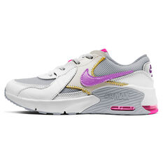 Nike Air Max Excee Kids Casual Shoes White/Grey US 1, White/Grey, rebel_hi-res