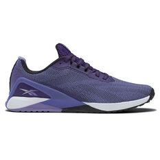Reebok Nano X1 Grit Womens Training Shoes Purple US 6, Purple, rebel_hi-res