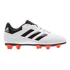 adidas Goletto VI Junior Football Boots White / Red US 11 Junior, White / Red, rebel_hi-res
