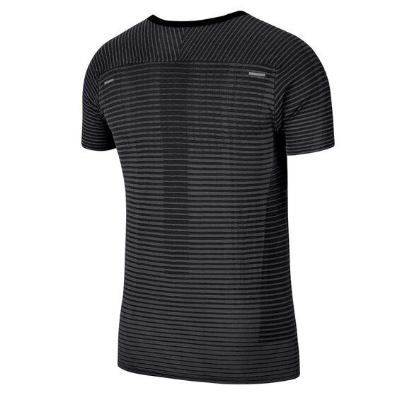 Nike Mens TechKnit Ultra Running Tee, Black, rebel_hi-res