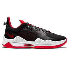 Nike PG 5 Bred Basketball Shoes Black US 7, Black, rebel_hi-res