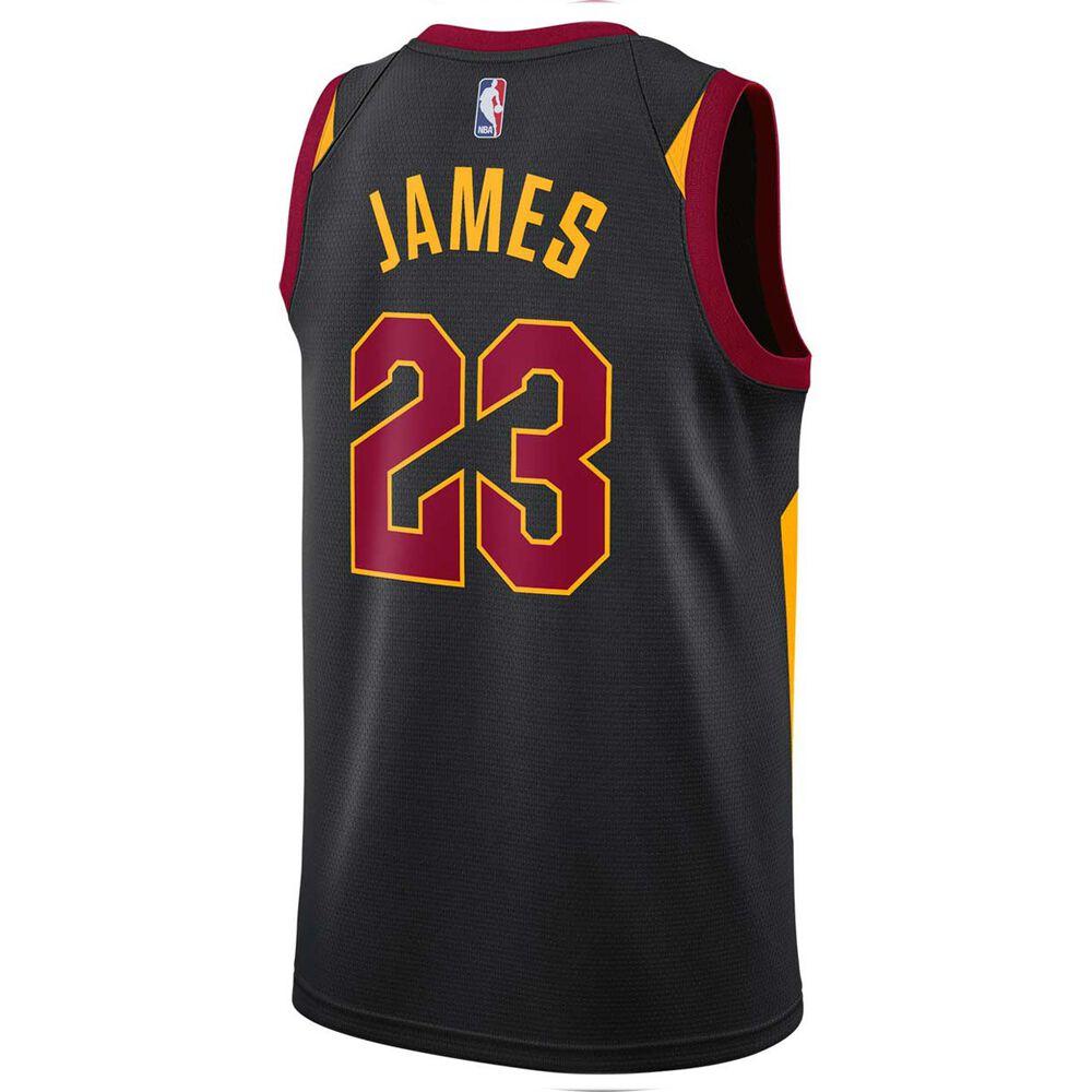 Nike Cleveland Cavaliers Lebron James Alternate 2018 Mens Swingman Jersey  Black S 1547f1c7639e