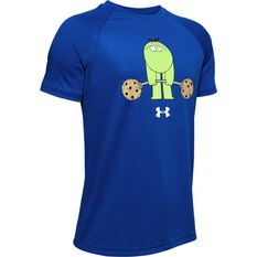 Under Armour Boys Tech Cookie Emoji Tee Royal Blue XS, Royal Blue, rebel_hi-res