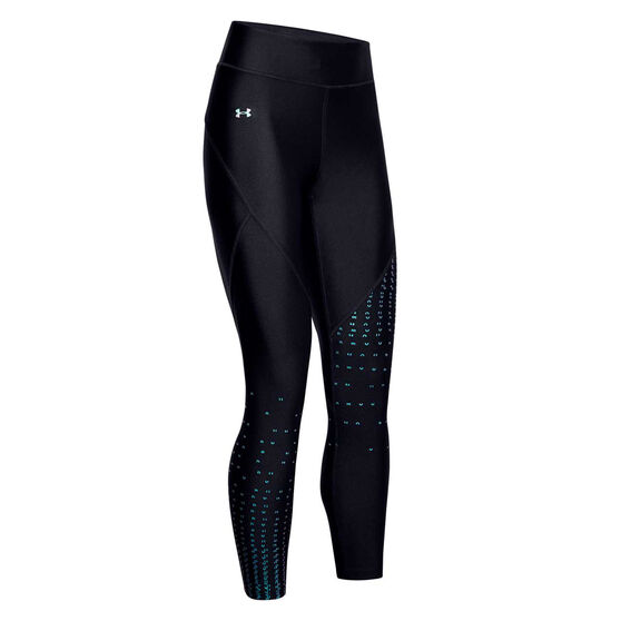 Under Armour Womens HeatGear Armour 7/8 Tights, Black, rebel_hi-res