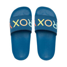 Roxy Kids Slippy Slides Blue US 11, Blue, rebel_hi-res