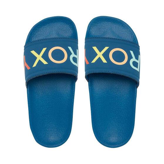 Roxy Kids Slippy Slides, Blue, rebel_hi-res