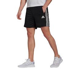 adidas Mens 3 Stripe Shorts Black XS, Black, rebel_hi-res