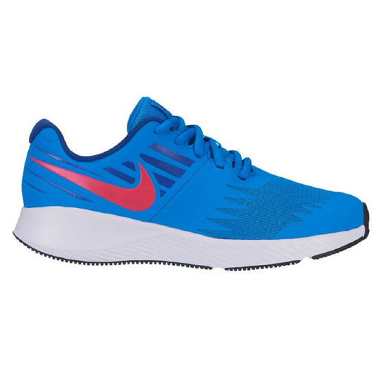 Nike Star Runner Kids Running Shoes, Blue / Red, rebel_hi-res