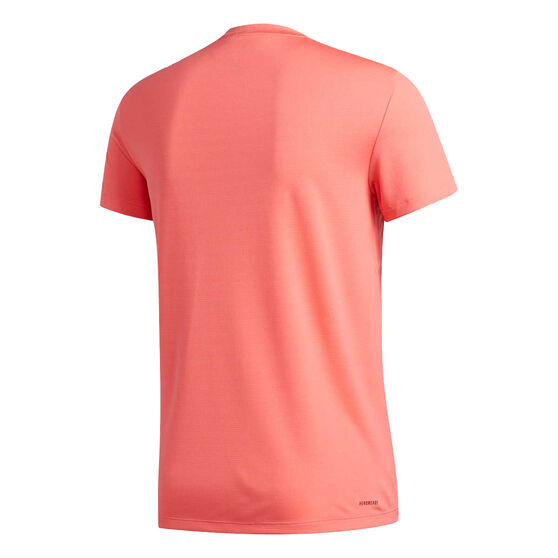 adidas Mens AEROREADY 3 Stripes Tee, Red, rebel_hi-res