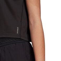 adidas Womens Primeblue Tee, Black, rebel_hi-res