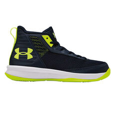 Under Armour Jet 2018 Kids Basketball Shoes Navy / Yellow US 11, Navy / Yellow, rebel_hi-res