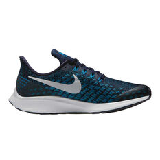 Nike Air Zoom Pegasus 35 Boys Running Shoes Blue US 1, Blue, rebel_hi-res